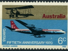 Qantas 50th Anniversay 6c stamp